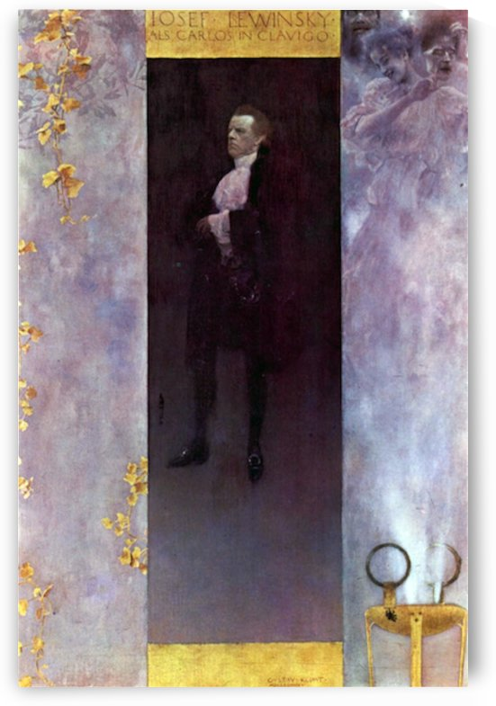 Hofburg actor Josef Lewinsky as Carlos by Klimt by Klimt