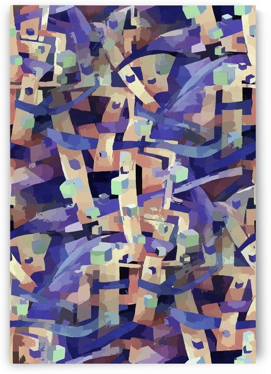 Seamless Geometric Vivid Abstract by Nisuris Art