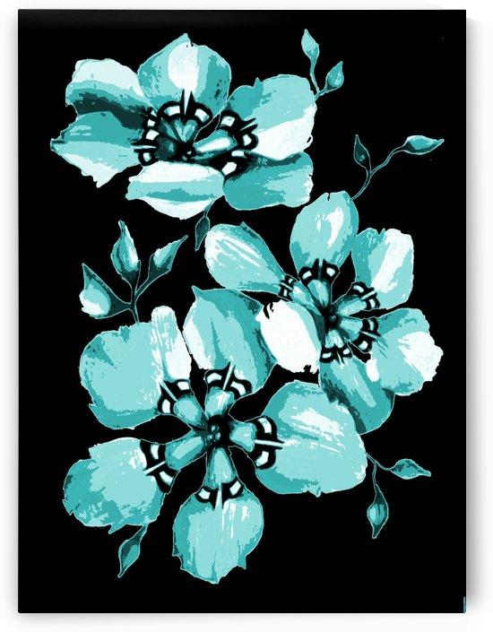 Harmonious Artdeco Floral Pattern  by Nisuris Art