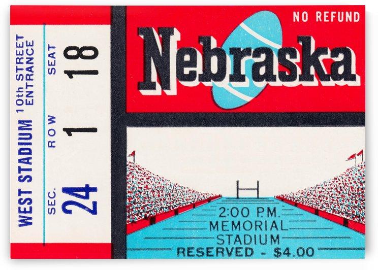 Nebraska Football Art by Row One Brand