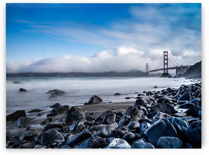 Marshalls Beach & Golden Gate San Francisco by Raquel Creative