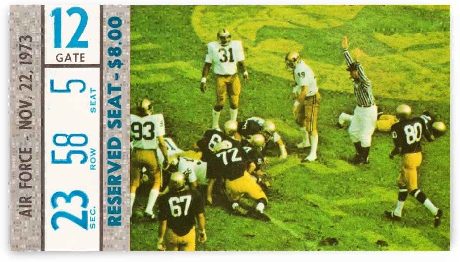 1973 Notre Dame vs. Air Force by Row One Brand