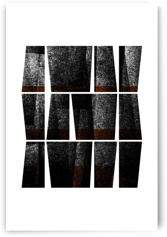 Textured Shapes 13 - Abstract Geometric Art Print by Adriano Oliveira