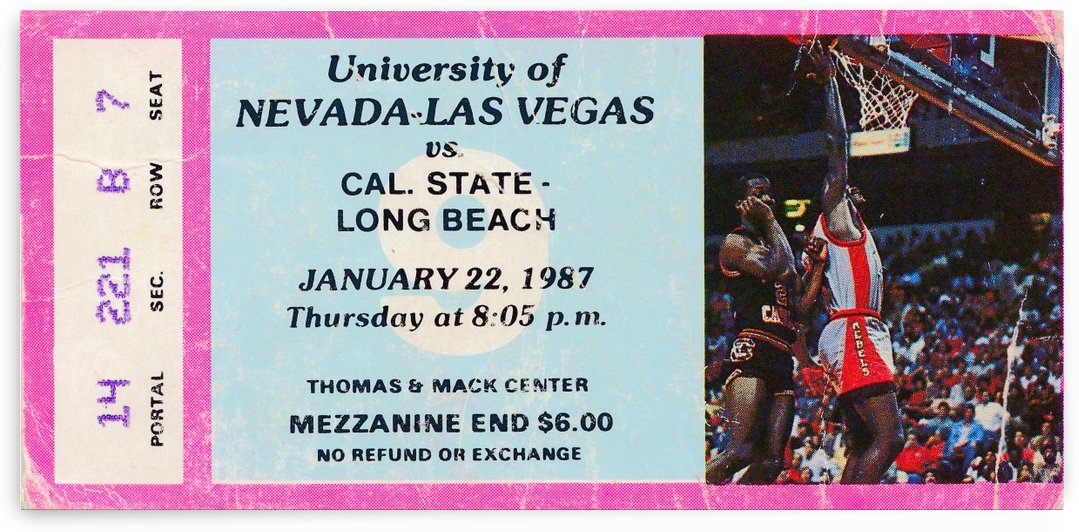 1987 UNLV Rebels Basketball by Row One Brand