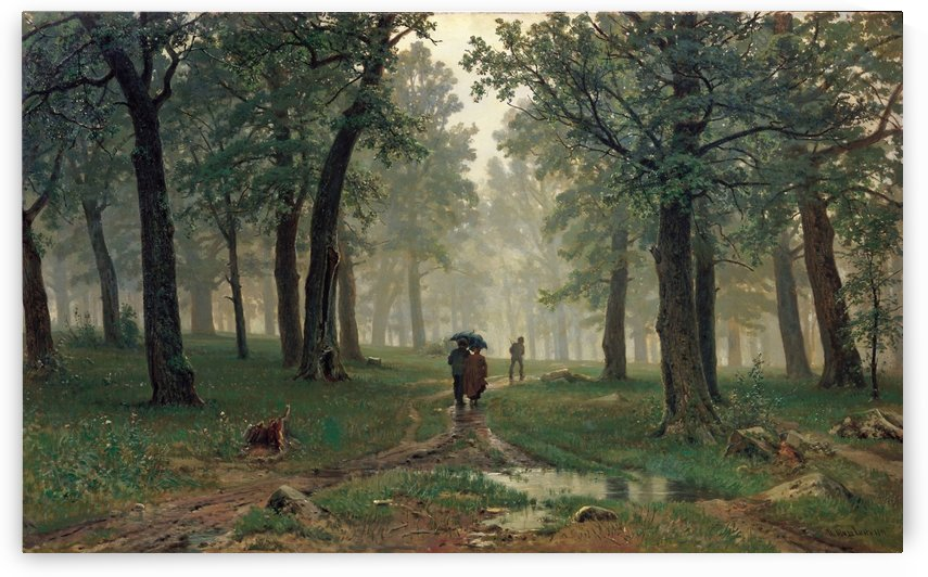 Rain in an Oak Forest by Ivan Shishkin