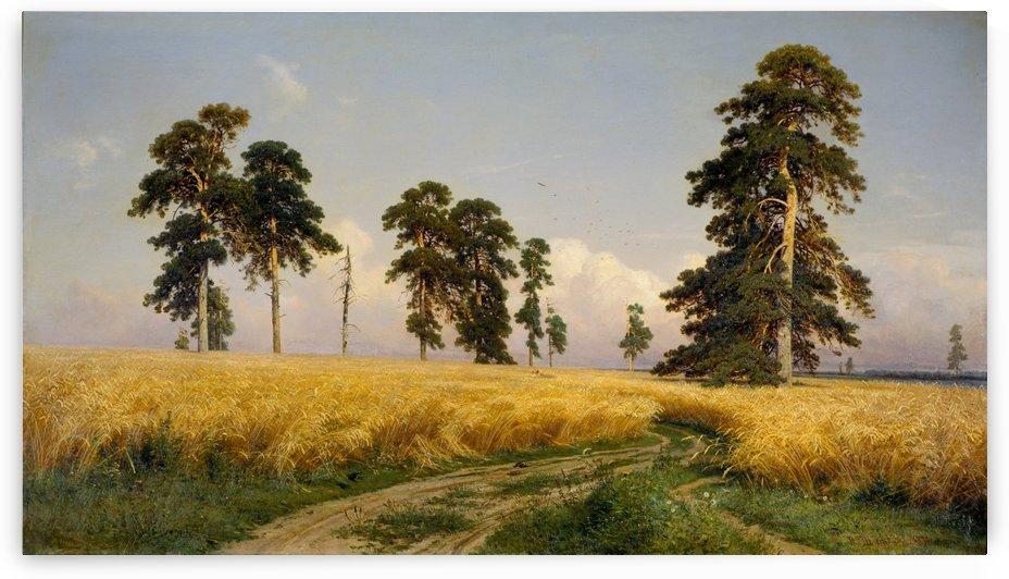 A Rye Field by Ivan Shishkin