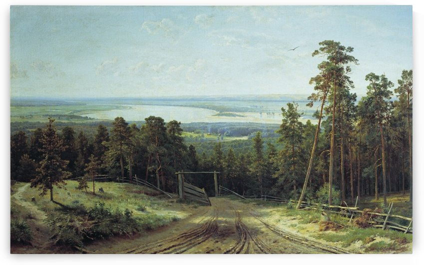 The kama near Yelabuga by Ivan Shishkin