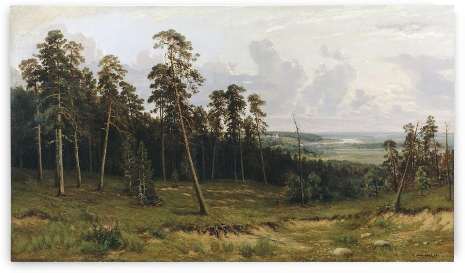 Fir forest on the river Kama by Ivan Shishkin