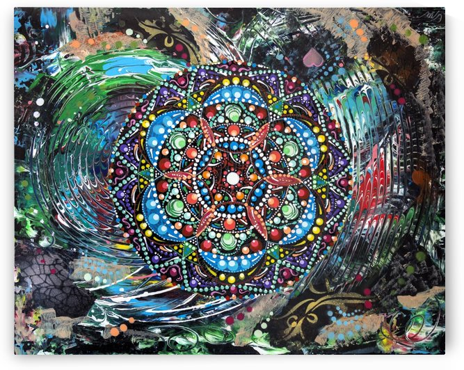 Harmonie en vert by Carmen Mandal-Art