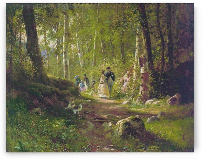 A Promenade in the Woods by Ivan Shishkin