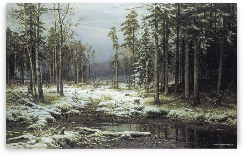 The First Snow by Ivan Shishkin
