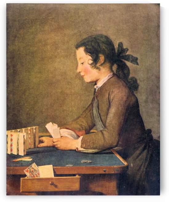 House of Cards by Jean Chardin by Jean Chardin