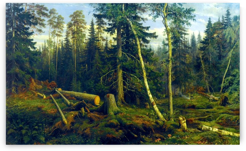 Cutting trees by Ivan Shishkin