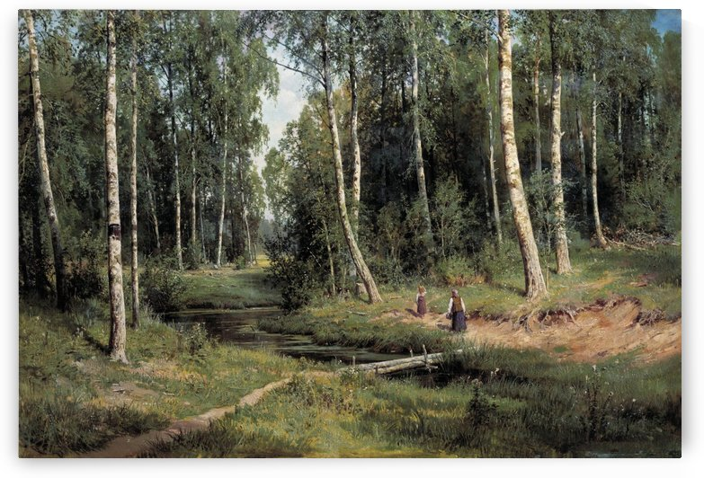 In The Birch Tree Forest by Ivan Shishkin