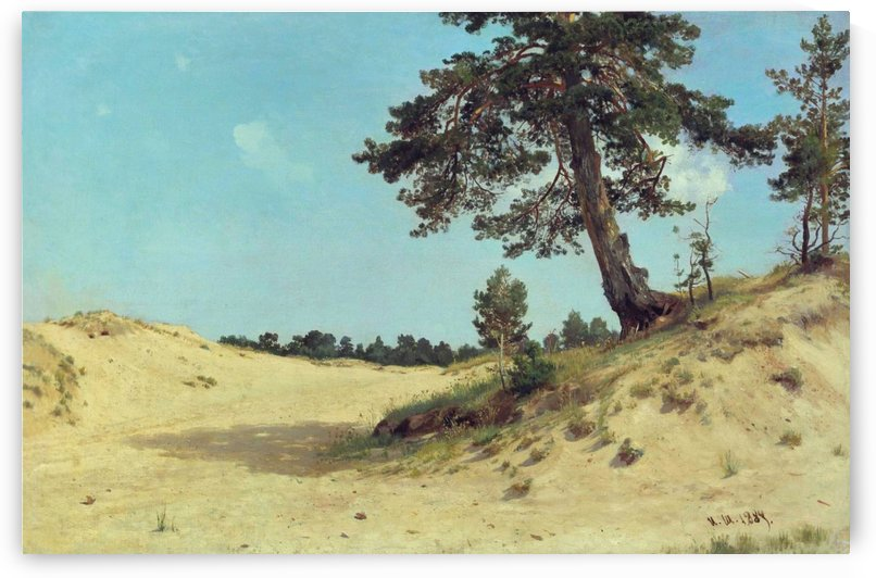 Pine on sand by Ivan Shishkin