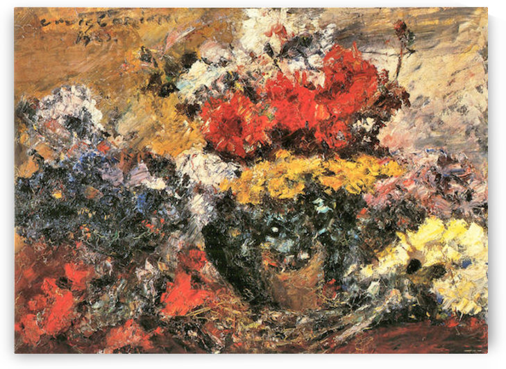 Autumn Flowers by Lovis Corinth by Lovis Corinth