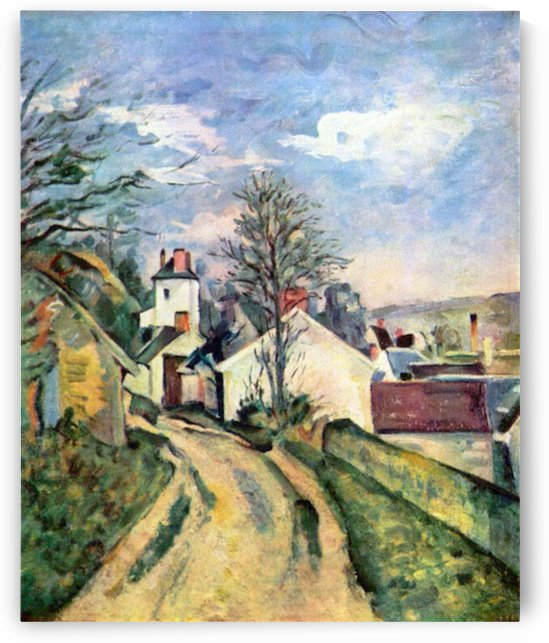 House of Dr. Gachet by Cezanne by Cezanne