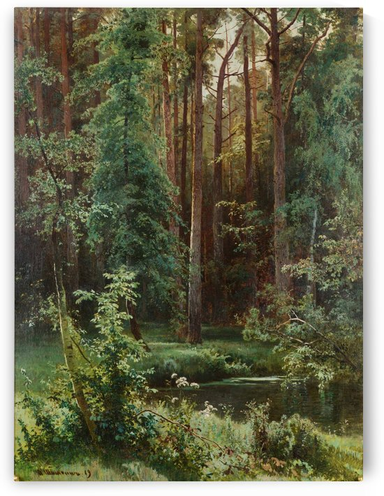 Sunny forest by Ivan Shishkin
