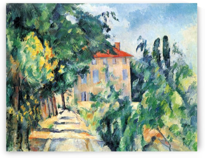 House with Red Roof by Cezanne by Cezanne