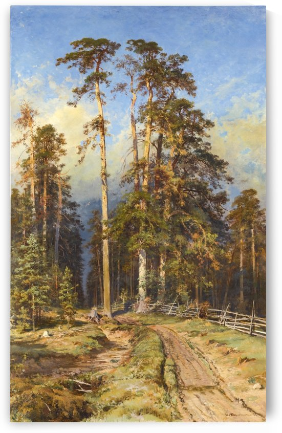Entering forest by Ivan Shishkin