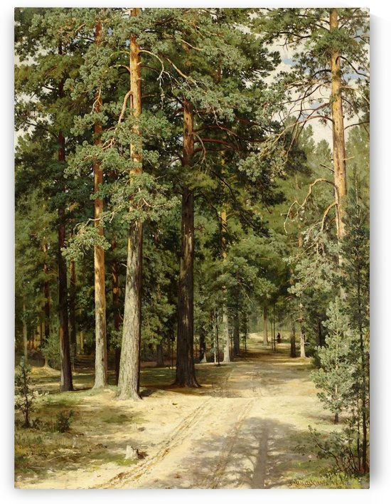 Road in forest by Ivan Shishkin