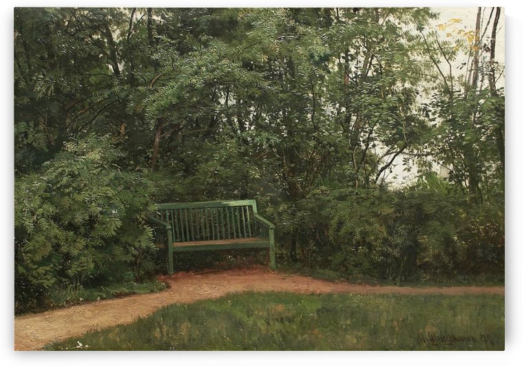 Bench in the mall by Ivan Shishkin