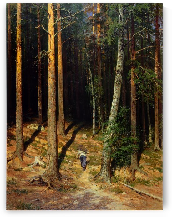 Pine forest by Ivan Shishkin