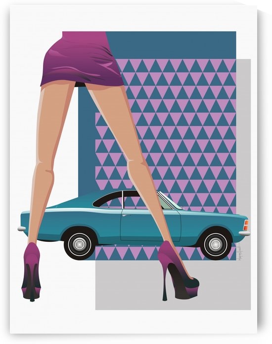 Woman and Vintage Car Chevrolet Opala by Wagner Hardt