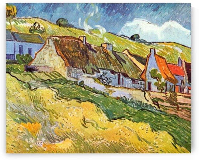 Huts in Auvers by Van Gogh by Van Gogh by Van Gogh