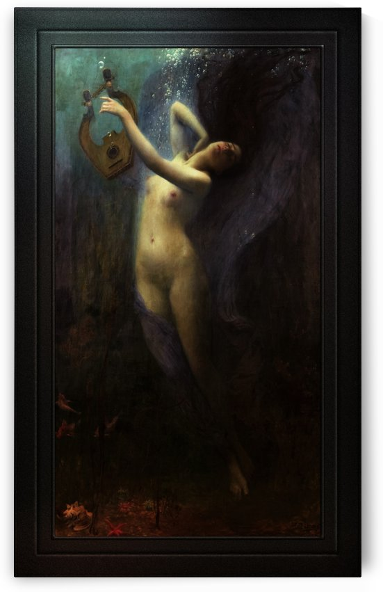 Death of Sappho by Charles Amable Lenoir Old Master Reproduction by xzendor7