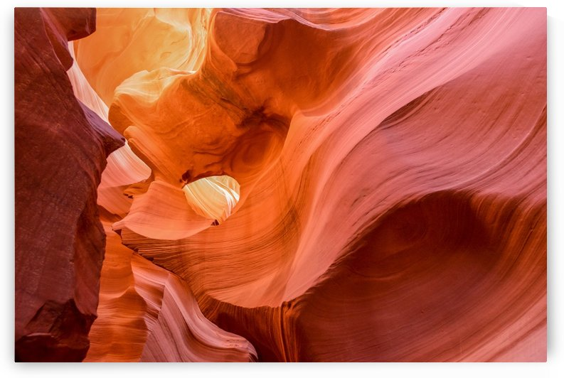 Interior of Antiloppe canyon page Arizona USA by Francois Lariviere