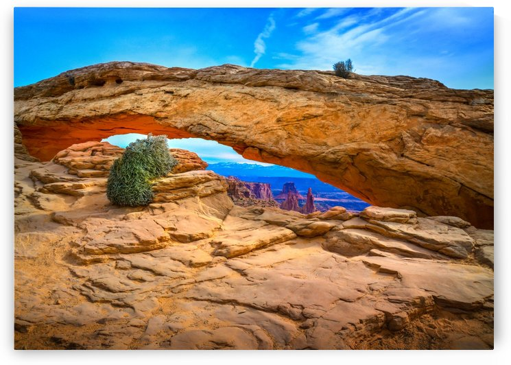 Mesa arch rock formation in Canyonlands Park Moab Utah USA by Francois Lariviere