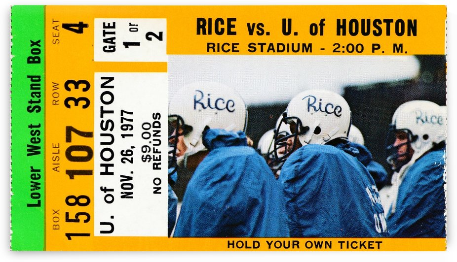 1977 Rice vs. Houston by Row One Brand