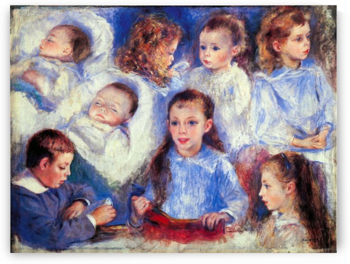 Images of childrens character heads by Renoir by Renoir