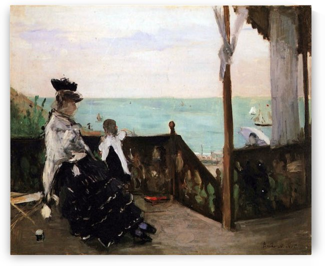 In a villa on the beach by Morisot by Morisot