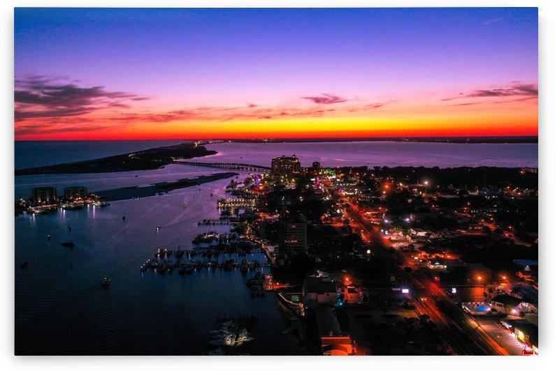 Destin Sunset  by Destin30A Drone