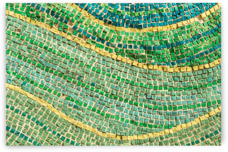 Tessellated Abstracts and Impressions - Free Form Ocean Waves in Aquas Mint Greens and Citron Yellows by GeorgiaM
