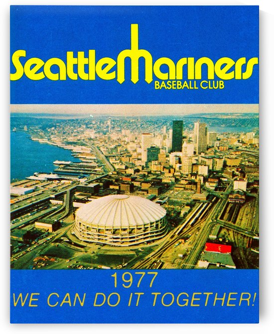 vintage seattle mariners poster 1 by Row One Brand