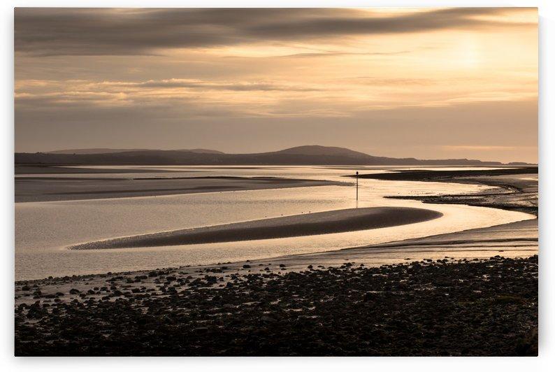 Loughor estuary mudbanks by Leighton Collins