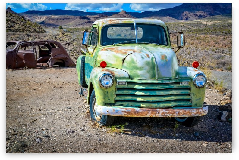 Old rusty and abandoned car in the Arizona desert USA by Francois Lariviere