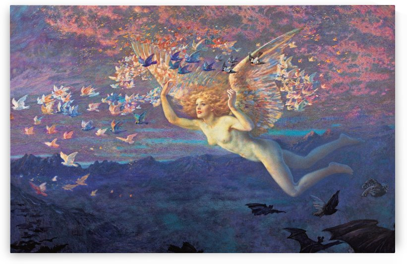On the Wings of Morning by Edward Robert Hughes