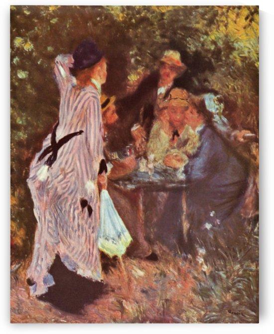 In the Garden (in the garden bower of Moulin de la Galette by Renoir by Renoir
