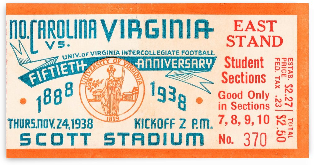 1938 North Carolina vs. Virginia by Row One Brand