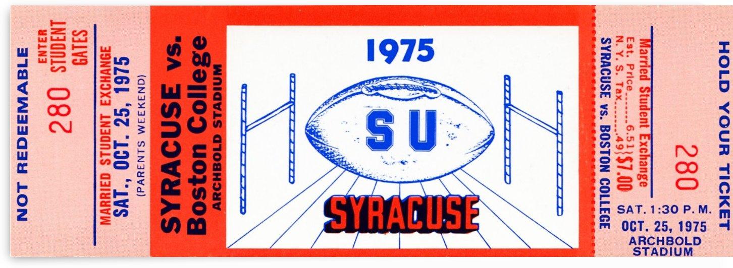 1975 Syracuse vs. Boston College by Row One Brand
