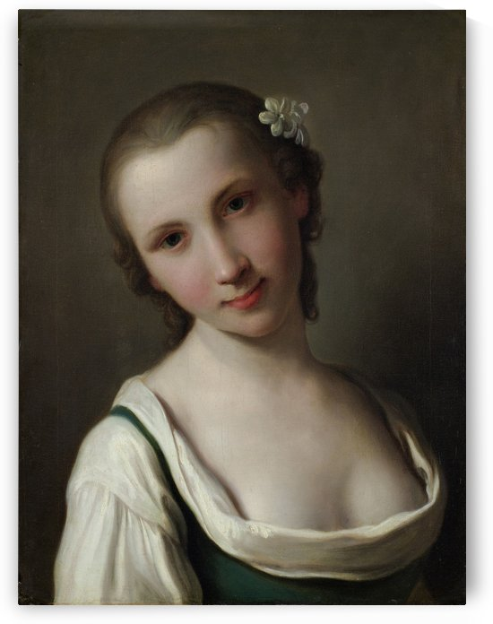Een jonge vrouw by Pietro Antonio Rotari