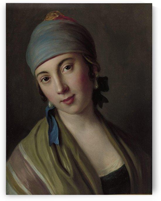 Ritratto di una donna con la sciarpa e scialle by Pietro Antonio Rotari