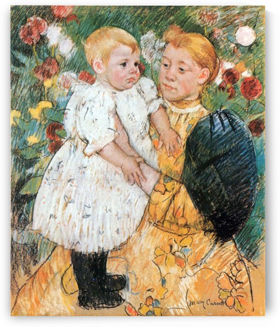 In the garden by Cassatt by Cassatt