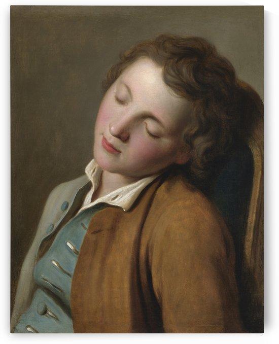 Boy sleeping by Pietro Antonio Rotari