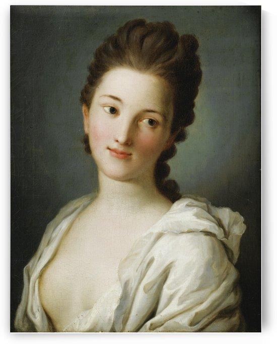 Portrait of Woman in White Suit by Pietro Antonio Rotari