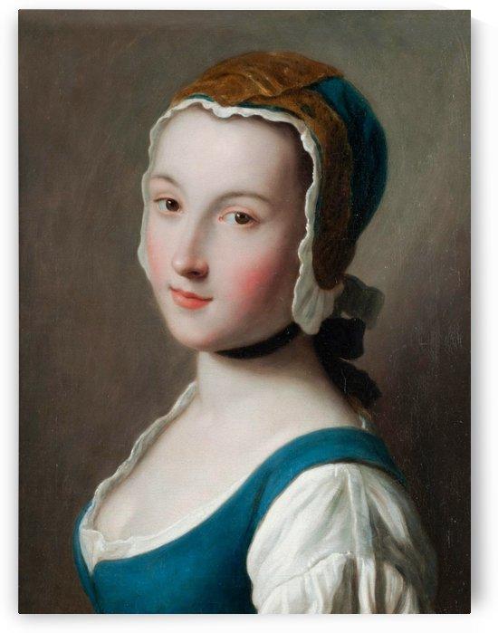 Giovane Donna con Cuffia by Pietro Antonio Rotari